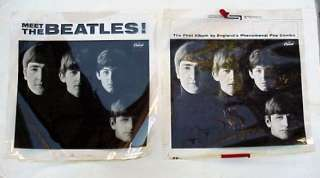 BEATLES FIRST ALBUM BLACK AND WHITE NEGATIVES USED TO PRINT THE ALBUM