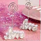 PCS Love Card Holder Stand Table Number Wedding Favors Gift White