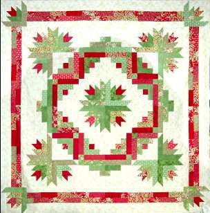 CACTUS WREATH ~ Great Quilt Pattern for Jelly Rolls