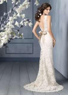 High quality Lace White/ivory Wedding Dress custom size 6 8 10 12 14
