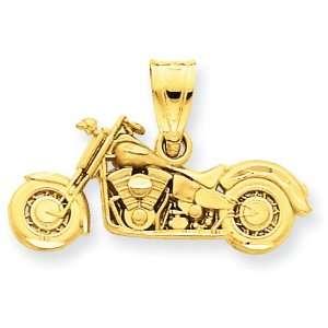 14k 3 D Motorcycle Pendant West Coast Jewelry Jewelry