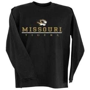 Missouri Tigers MIZZOU MU NCAA Black Long Sleeve T Shirt