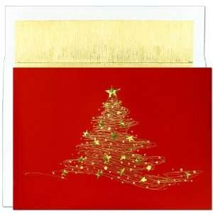 masterpiece 802200 Golden Christmas Tree 18 Cards 18