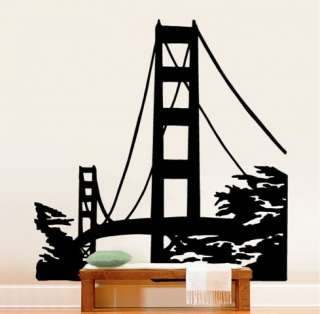 Vinyl Wall Decal Sticker Golden Gate Bridge Big 72x70