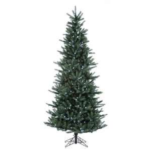 Pre Lit Tiffany Spruce Slim Artificial Christmas Tree   Clear LED