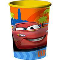 DISNEY CARS BIRTHDAY PARTY PLASTIC PARTY STADIM CUP TABLE DECORATION