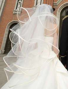 /ivory wedding bridal Accessories veil with comb Fish bone