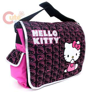 Sanrio Hello Kitty School Messenger Bag  Mini Faces / Pink Black