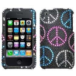 Premium Apple iPhone 3G/ 3GS Peace Rhinestone Case