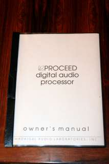 Proceed Digial Audio Processor Owners Manual *Original*