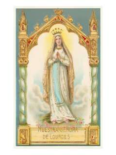 Our Lady of Lourdes, Nuestra Senora de Lourdes Giclee Print at