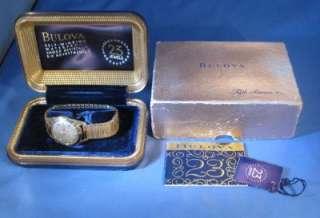 Vintage Bulova 23 Jewel Self Winding Gold Filled Mens Wrist Watch K