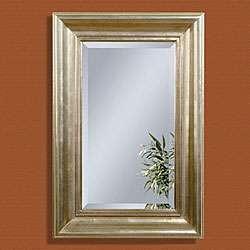 Antique Silverleaf Rectangular Bevelled Mirror