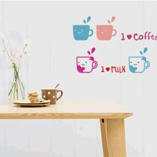 I love beverage WALL DECOR DECAL MURAL STICKER REMOVABLE