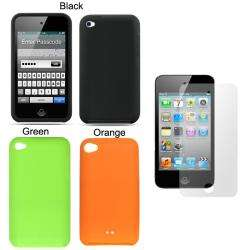 Premium Apple iPod Touch 4 Silicone Case with Screen Protector
