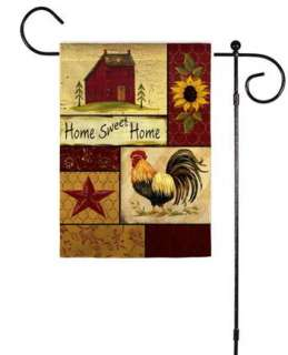 fall home sweet home garden rooster folk small flag