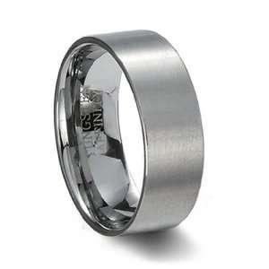 Tungsten Ring   Brushed Tungsten Carbide Pipe Cut Wedding