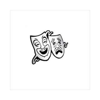Bass Comedy / Tragedy Masks Mirror Acrylic Wall Decor: Bedding & Decor