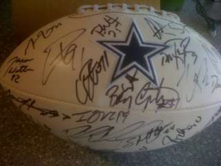Autographed Dallas Cowboy Team signed ball with LOA