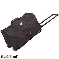 Rockland Black 22 inch Carry On Rolling Duffel Bag