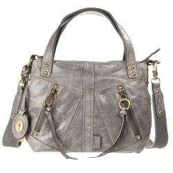 Fossil Monika Grey Leather Shopper Bag