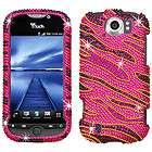 Pink Rhinestone Bling Case Cover For HTC My Touch 4G T Mobile