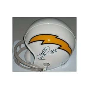 Antonio Gates Autographed San Diego Chargers White Mini Football