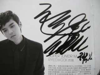 Super Junior M KOREAN Autographed Signed CD RARE Suju