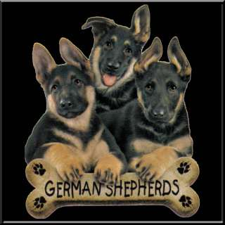 German Shepherd Puppies With Dog Breed Bone T Shirt S,M,L,XL,2X,3X,4X