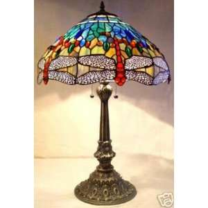 Dragonfly Stained Glass Tiffany Table Lamp Lamps