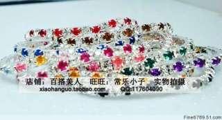 Lots 12Pcs 1Row Mixed Color Crystal Rhinestone Bracelet