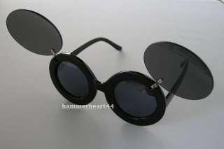 Lady Flip Up Black Mouse Ear fashion Sunglasses glasses