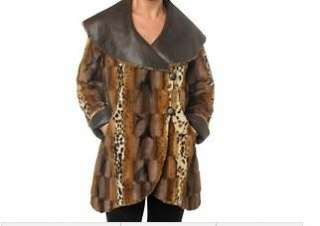 Womens ladies winter faux fur reversible coat jacket plus size X L 1X