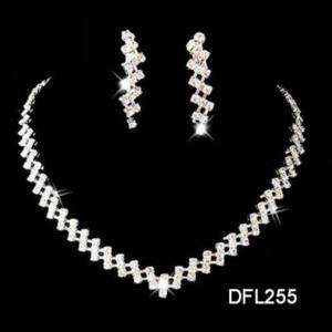 Wedding Bridal crystal necklace earring set TL0255