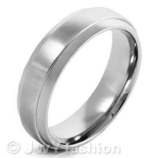 Silver Stainless Steel Striped Vintage Rings Wedding Band ve347