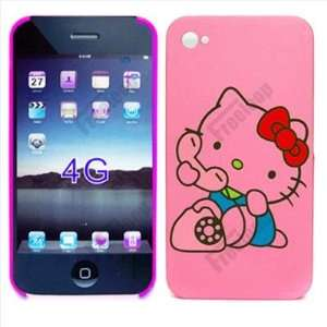 lot of 2 itemsHello Kitty Hard Case Cover Back hot pink for iPhone 4