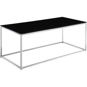 Kale Glass Coffee Table, Black/Chrome Furniture