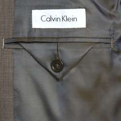 Calvin Klein Mens Slim Fit 2 button Wool Suit