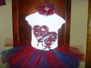 New England Patriots TuTu, Shirt & Hair Bow~Infant~Toddler~Girls 12mos