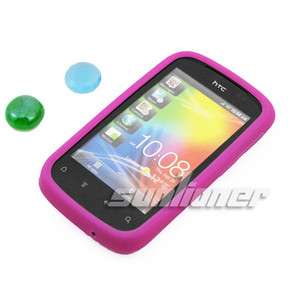 Silicone Case Skin Cover for HTC Explorer,Pico,A310e +LCD Film