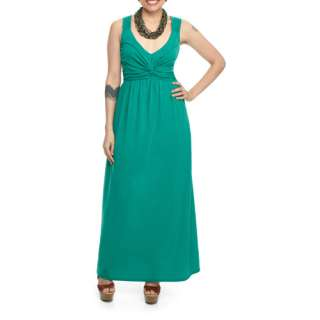 Miss Tina   Womens Twist Front Maxi Dress, Assorted Sizes