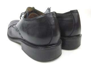 TASSO ELBA Mens Black Leather Laced Dress Shoes Sz 9