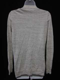 WALLACE Cream Wool Print Button Cardigan Sweater Sz XS