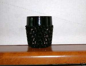 Elegant Black Glass, Diamond Point, Indiana Glass ?