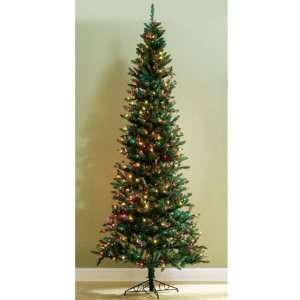 Pre lit 9 Slim Line Christmas Tree With Multi Lights