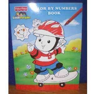 Little People Color by Numbers book (FisherPrice Little People
