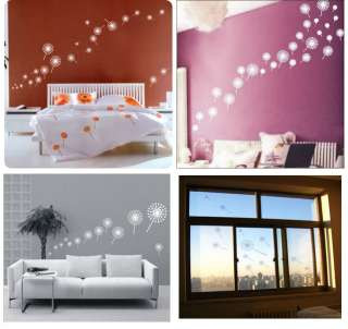 Wallpaper Glass Wall Vinyl Sticker Decal DANDELION