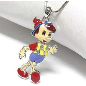 Cute Colorful Boy Puppet Boy Story Book Charm Necklace