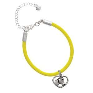 Heart with Horse Head Charm on a Yellow Malibu Charm