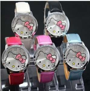 1pcs New Nice Cute HelloKitty Girls Kids Quartz Wrist Watch lady